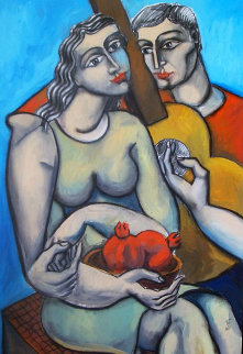 Lost in Her Beauty 2003 30x42 Original Painting by  Yuroz
