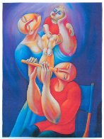 Adoration With Flute 1992 Super Huge Limited Edition Print by  Yuroz - 1