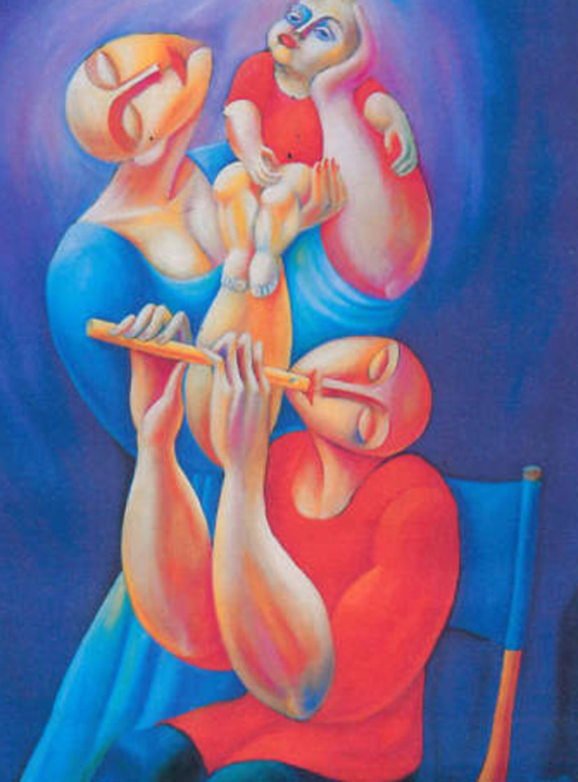 Adoration With Flute 1992 Super Huge Limited Edition Print by  Yuroz