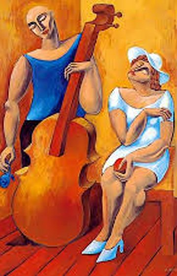 Cello 1994 Limited Edition Print by  Yuroz