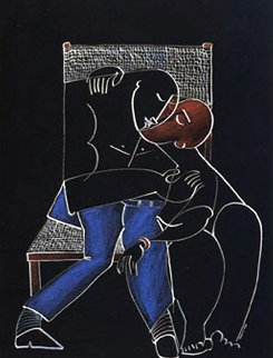 Wicker Kiss Suite of 2 1989 Huge Limited Edition Print -  Yuroz