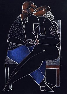 Wicker Kiss Suite of 2 1989 Limited Edition Print by  Yuroz