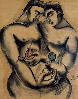 Shade of Love Watercolor 2007 32x26 Watercolor -  Yuroz