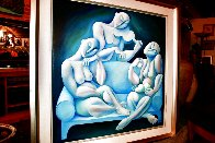 Light Blue Couch 1989 62x62 Huge Major Painting Original Painting by  Yuroz - 8