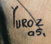 Secret Model Drawing 2005 on Wood Panel 16x13 Drawing by  Yuroz - 4