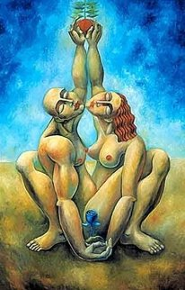 Lovers Reach 2004 Huge Limited Edition Print -  Yuroz