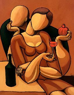 Taste My Wine (Study) 2004 34x28 Original Painting by  Yuroz