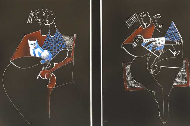 Trio Duet Dipytch 1989 Set of 2 Limited Edition Print by  Yuroz