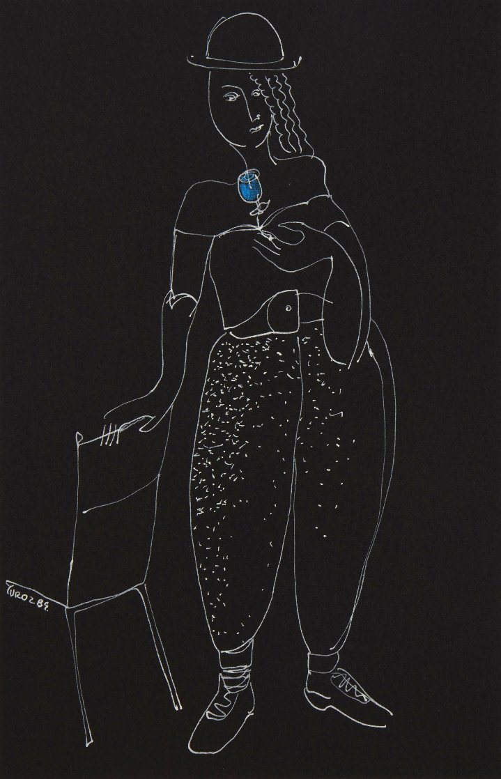 Fragrance 1989 20x16 Works on Paper (not prints) by  Yuroz