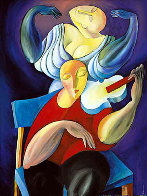 White Violin 1989 Huge Limited Edition Print by  Yuroz - 0