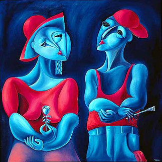 Harmony in Red 1990 Limited Edition Print by  Yuroz