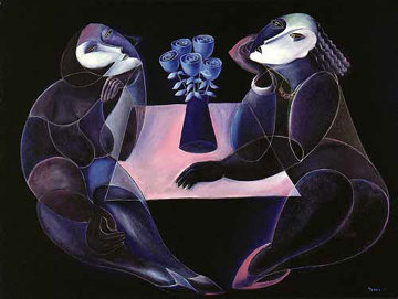 Table of Negotiations 1988 Huge Limited Edition Print -  Yuroz