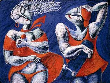 Wind 1988 53x40 Huge  Limited Edition Print -  Yuroz