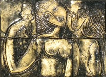 Holding the Rose, 6 Ceramic Tiles 24x29 Sculpture -  Yuroz