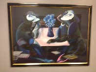Table of Negotiations AP 1989 Super Huge Limited Edition Print by  Yuroz - 1