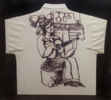 For Sophia Drawing on Shirt 2004 34x37 Drawing by  Yuroz