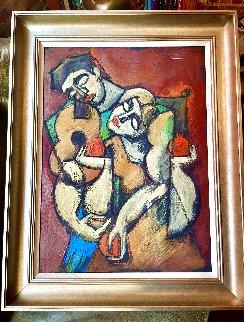 I Love Your Music 1996 34x27 Original Painting -  Yuroz