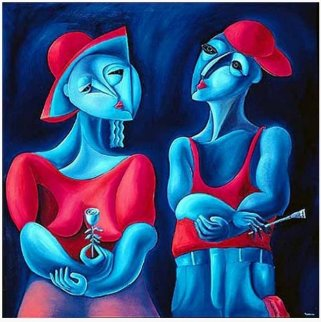 Harmony in Red AP 1990 Huge Limited Edition Print -  Yuroz