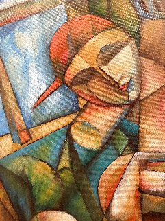 Wrapped in Inspiration 2002 45x55 Original Painting by  Yuroz