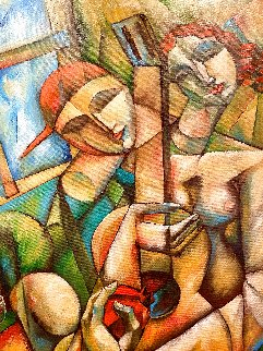 Wrapped in Inspiration 2002 45x55 Huge Original Painting -  Yuroz