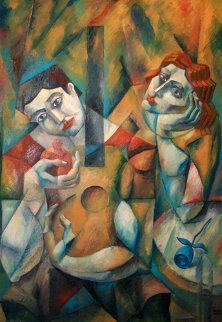 Serenade in Silence 2003 45x55 Huge Original Painting -  Yuroz