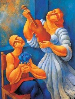 Untitled (Inspiration) 48x36 Original Painting by  Yuroz