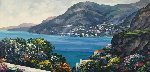 Passage to Amalfi 32x55 Original Painting - John  Zaccheo