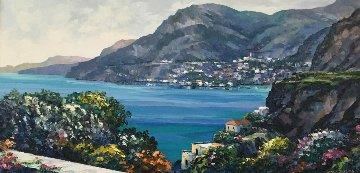 Passage to Amalfi 32x55  Huge Original Painting - John  Zaccheo