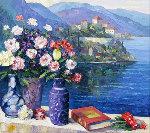 Mediterranean Scene Embellished Limited Edition Print - John  Zaccheo
