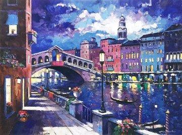 Rialto Bridge Embellished Limited Edition Print by John  Zaccheo