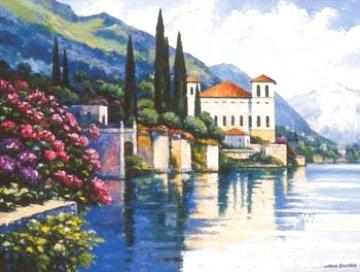 Gravedona-lago Dicomo Ste 1996 40x30 Huge  Limited Edition Print - John  Zaccheo