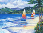 Seaside Sails Limited Edition Print - John  Zaccheo