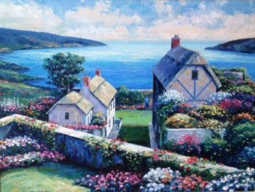View From Kinnsale 30x40 Original Painting - John  Zaccheo