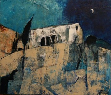Toscana 2012 23x20 Original Painting - Alexander Zakharov