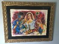 Untitled Wedding 1980 39x47 Huge HS  Original Painting by Zamy Steynovitz - 1