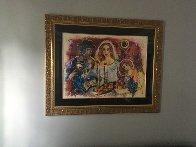 Untitled Wedding 1980 39x47 Huge HS  Original Painting by Zamy Steynovitz - 4