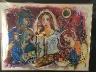 Untitled Wedding 1980 39x47 Huge HS  Original Painting by Zamy Steynovitz - 3
