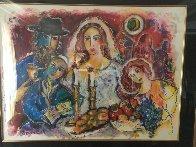 Untitled Wedding 1980 39x47 Huge HS  Original Painting by Zamy Steynovitz - 2