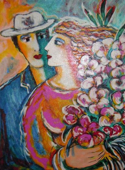 Spring Bouquet 1998 Embellished Limited Edition Print by Zamy Steynovitz