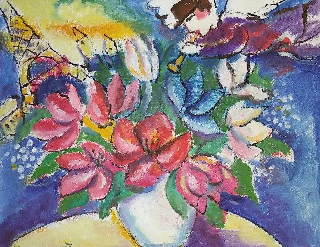 Engle in Paris 15x18 Original Painting by Zamy Steynovitz