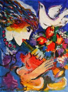 Untitled 13x11 Original Painting by Zamy Steynovitz
