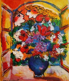 Flowers HS Original Painting - Zamy Steynovitz