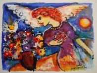 Angel 11x14 HS Original Painting by Zamy Steynovitz - 1