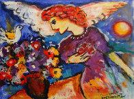 Angel 11x14 HS Original Painting by Zamy Steynovitz - 2