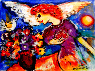 Angel 11x14 HS Original Painting by Zamy Steynovitz - 0
