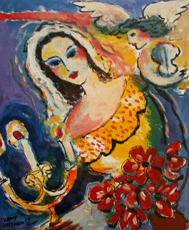 Untitled  (Bride And Candles) 13 in Original Painting by Zamy Steynovitz