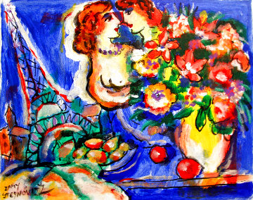 Paris 12x14 HS Original Painting - Zamy Steynovitz
