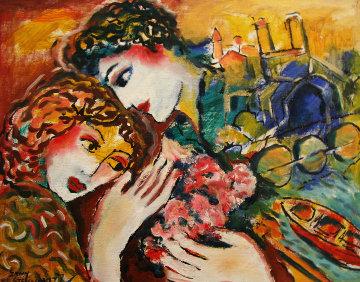 Untitled (Love) 14x11 Original Painting - Zamy Steynovitz