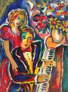 Piano Player 1981 Limited Edition Print - Zamy Steynovitz