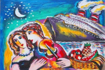 Lover's Paradise 2000 Embellished HS  Limited Edition Print - Zamy Steynovitz